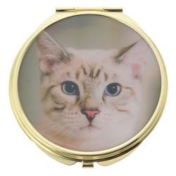 Clayre & Eef Příruční zrcátko s kočičkou - Ø 6 cm