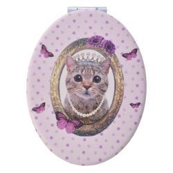 Clayre & Eef Ruční zrcátko s kočičkou Miauw - 9*7 cm