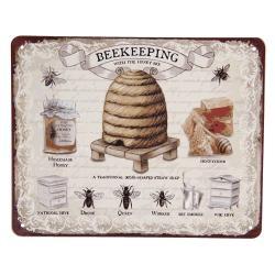 Clayre & Eef Retro plechová cedule Včelařství - 25*20 cm