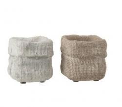J-Line by Jolipa Sada 2 betonových květináčů Ciment – 8* 8*7,5 cm