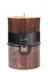 J-Line by Jolipa Hnědá nevonná svíčka X XL válec - Ø  10*15 cm/120H