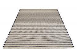J-Line by Jolipa Bílo-tmavě modrý kusový koberec Échecs - 200*300*1 cm