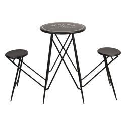 Clayre & Eef Set bistro stolku s židlemi Bistro De Paris - Ø 61*101 cm