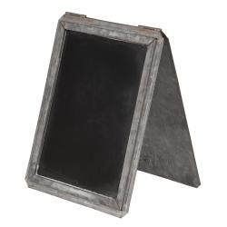 Clayre & Eef Křídová tabule v plechovém stojanu Tole - 16*2*24 cm