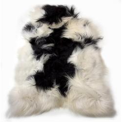 Mars & More  Bílo-černá ovčí kůže z Islandské ovce Iceland - 115*75*5cm