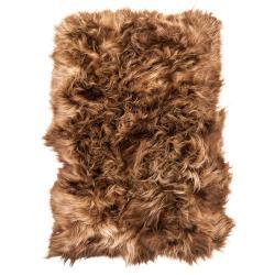 Mars & More  Přehoz přes postel hnědá rust ovčí kůže z Islandské ovce - 130*200*5cm