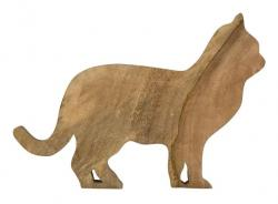 Mars & More  Dřevěné mangové prkénko kočka - 44*31*2cm