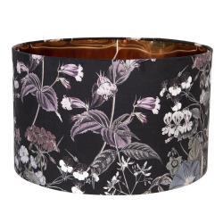 Clayre & Eef Květinové textilní stínidlo k lampě Cigogne – Ø 45*28 cm