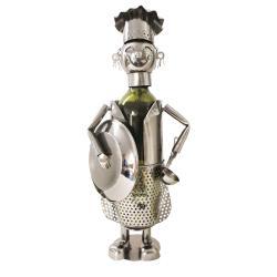 Clayre & Eef Držák na láhev vína v designu kuchaře Chevalier - 16*12*28 cm