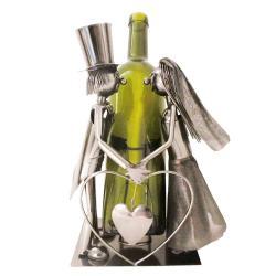 Clayre & Eef Kovový držák lahví v designu svatebního páru Chevalier - 19*13*26 cm