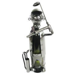Clayre & Eef Kovový stojan na víno v provedení golfisty Chevalier - 21*14*29 cm