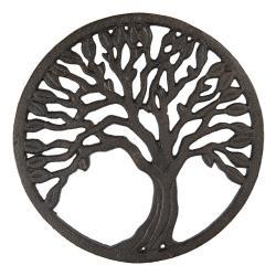 Clayre & Eef Litinová podložka pod hrnec se stromem - Ø 21 cm