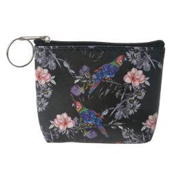Clayre & Eef Klíčenka s květy a papoušky Papagay - 10*8 cm