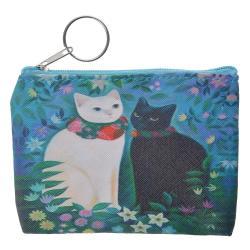 Clayre & Eef Peněženka s kočičkami - 11*9 cm