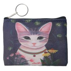 Clayre & Eef Peněženka s kočičkou - 11*9 cm