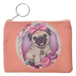 Clayre & Eef Lososová peněženka s pejskem - 11*9 cm