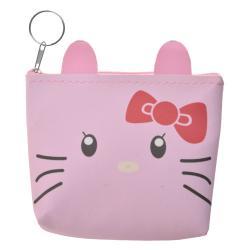 Clayre & Eef Menší růžová peněženka se zvířátkem - 12*13 cm