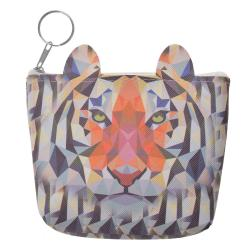 Clayre & Eef Barevná peněženka s tygrem - 12*13 cm