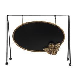 Clayre & Eef Křídová tabule v rámu s andílkem ve stojanu - 31*10*23 cm