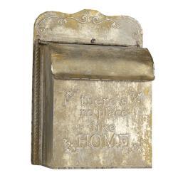 Clayre & Eef Retro poštovní schránka Home s patinou - 25*12*35 cm