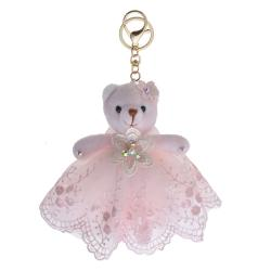 Clayre & Eef Plyšový medvídek v sukýnce na zavěšení - 15 cm