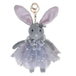 Clayre & Eef Plyšový králíček v sukýnce na zavěšení I - 20 cm