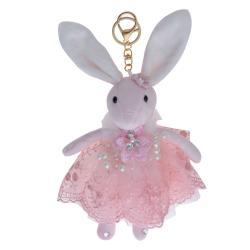 Clayre & Eef Plyšový králíček v sukýnce na zavěšení - 20 cm