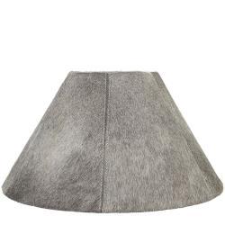 Mars & More  Kónické šedé stínidlo lampy z hovězí kůže - Ø 39*Ø 16*23cm / E27