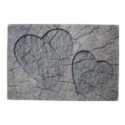 Mars & More  Šedá rohožka srdce v kmenu stromu Hearts grey - 75*50*1cm