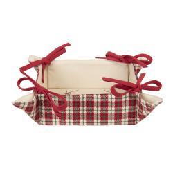 Clayre & Eef Oboustranný košík na pečivo s jelenem Cosy Lodge - 35*35*8 cm