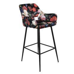 Clayre & Eef Barová židle s květinovým potiskem Parterre - 54*60*105 cm