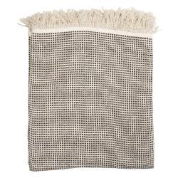 Clayre & Eef Kostkovaný bavlněný pléd s třásněmi Vérifié - 125*150 cm