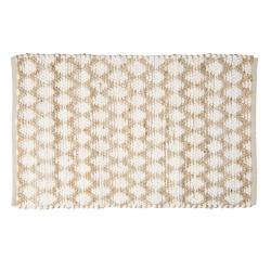 Clayre & Eef Hnědo -bílý jutový koberec - 60*90 cm