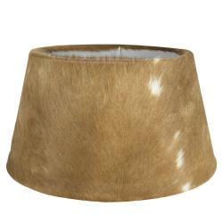 Mars & More  Hnědo-bílé lampové stínidlo z kravské kůže Taurus- 50*40*26cm