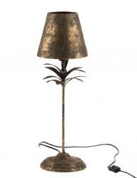 J-Line by Jolipa Černo-zlatá kovová stolní lampička Van Antique gold - Ø 22*60 cm