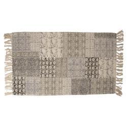 Clayre & Eef Koberec v patchwork provedení s třásněmi - 70*120 cm