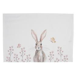 Clayre & Eef Sada bavlněných prostírání s motivem králíka Rustic Easter Bunny - 48*33 cm
