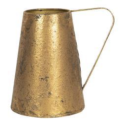 Clayre & Eef Zlatý dekorační džbán s patinou Bernetta - 22*16*21 cm