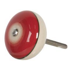 Clayre & Eef Červená kulatá úchytka ve vintage stylu Cercle – Ø 4*3 cm
