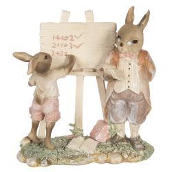 Clayre & Eef Velikonoční dekorace králíka učitele - 18*9*19 cm