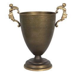 Clayre & Eef Bronzový dekorační pohár s anděly –  35*22*38 cm