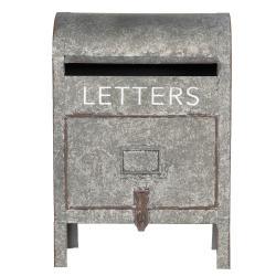 Clayre & Eef Dekorační poštovní schránka na nožičkách Letters - 28*16*40 cm