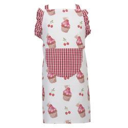 Clayre & Eef Dětská kuchyňská zástěra Cherry Cupcake - 48*56 cm