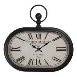 Clayre & Eef Oválné vintage hodiny Clement Audierne - 50*3*44 cm / 1*AA