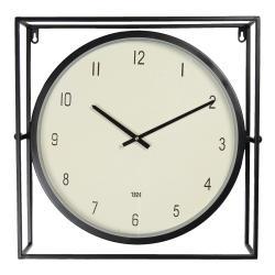Clayre & Eef Industriální hodiny v kovovém rámu Aurelien - 48*10*45 cm / 1*AA