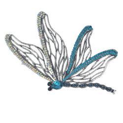 Clayre & Eef Kamínky zdobená brož ve tvaru motýla