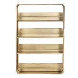 Clayre & Eef Zlatý kovový závěsný stojan s poličkami - 40*8*60 cm