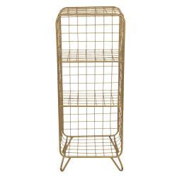 Clayre & Eef Zlatý policový stojan Eduardo maxi - 35*30*90 cm