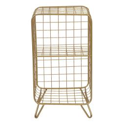 Clayre & Eef Zlatý policový stojan Eduardo - 35*30*65 cm