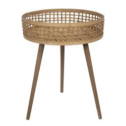 Clayre & Eef Bambusový designový odkládací stolek - 48*62 cm